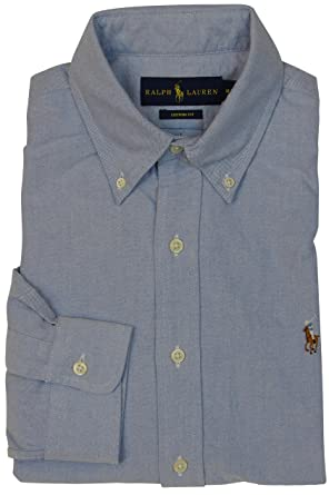 Amazon Com Ralph Lauren Men Solid Sport Oxford Shirt Polo Ralph