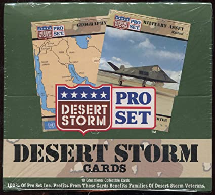 60530c1cace Image Unavailable. Image not available for. Color  Pro Set Desert Storm  Trading Cards Box