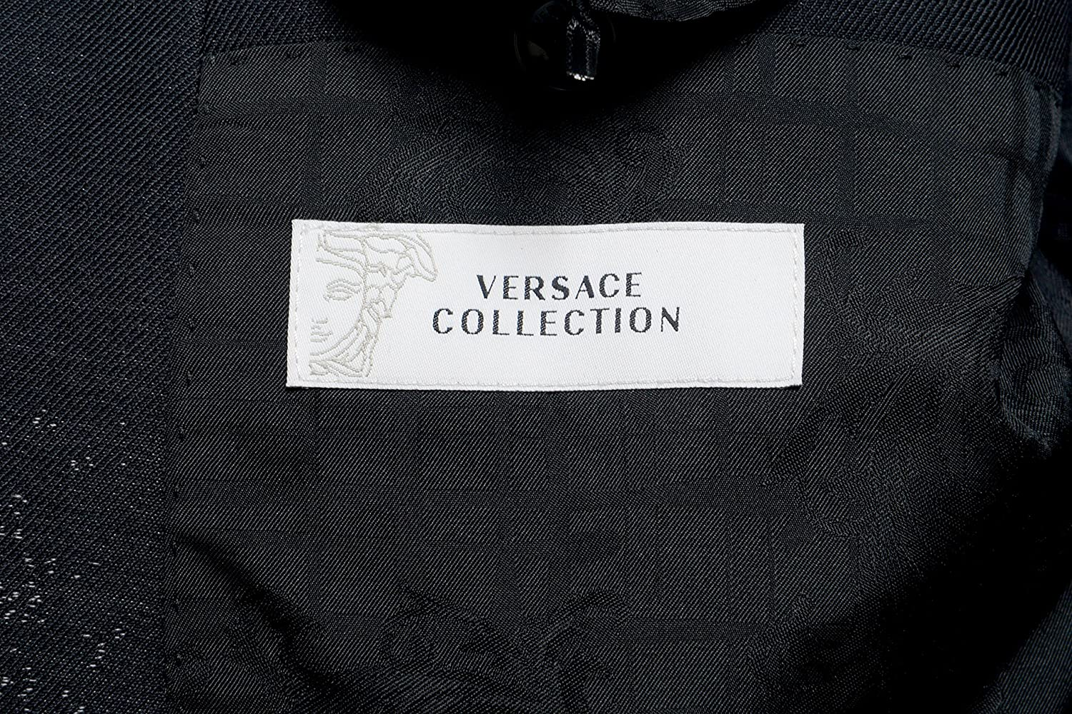 Versace Collection Mens 100/% Wool Two Button Blazer Sport Coat US 44 IT 54 Gray
