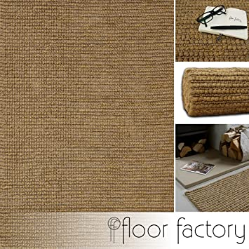 Floor Factory Tapis Moderne Naturel Jute Beige 160x230cm Tapis