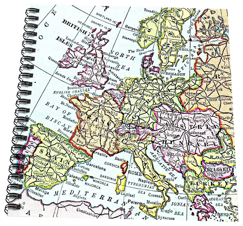 Map Of Western France.Amazon Com 3drose Db 112938 2 Vintage European Map Of Western
