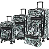 Steve Madden Tribal Luggage Set 4 Piece Expandable Suitcase with Spinner Wheels