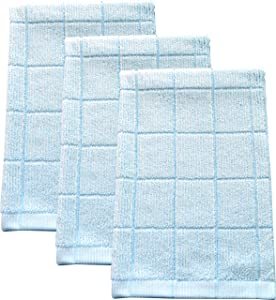 "Fabresh Absorbent, Quick-Drying Kitchen Dish Towels | Premium Bamboo and Microfiber Blend for Cleaning, Washing, and Drying | Durable Reinforced Edging | 26"" X 16"" Sky Blue (Set of 3)"