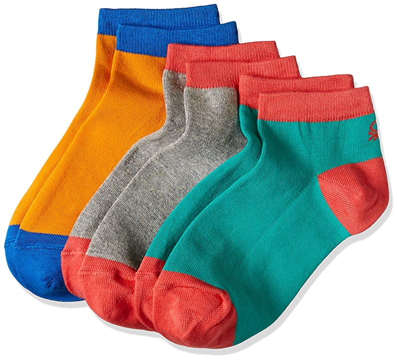 United Colors of Benetton Men's Ankle Socks pack of 3 at Amazon