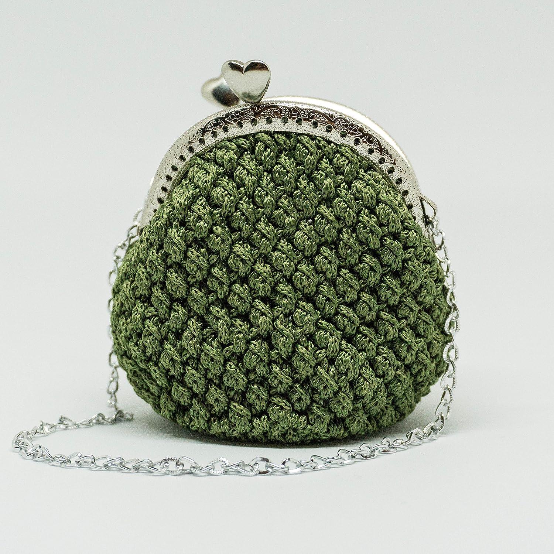 OLIVIA - Italian Handmade - Monedero hecho a mano. Crochet ...