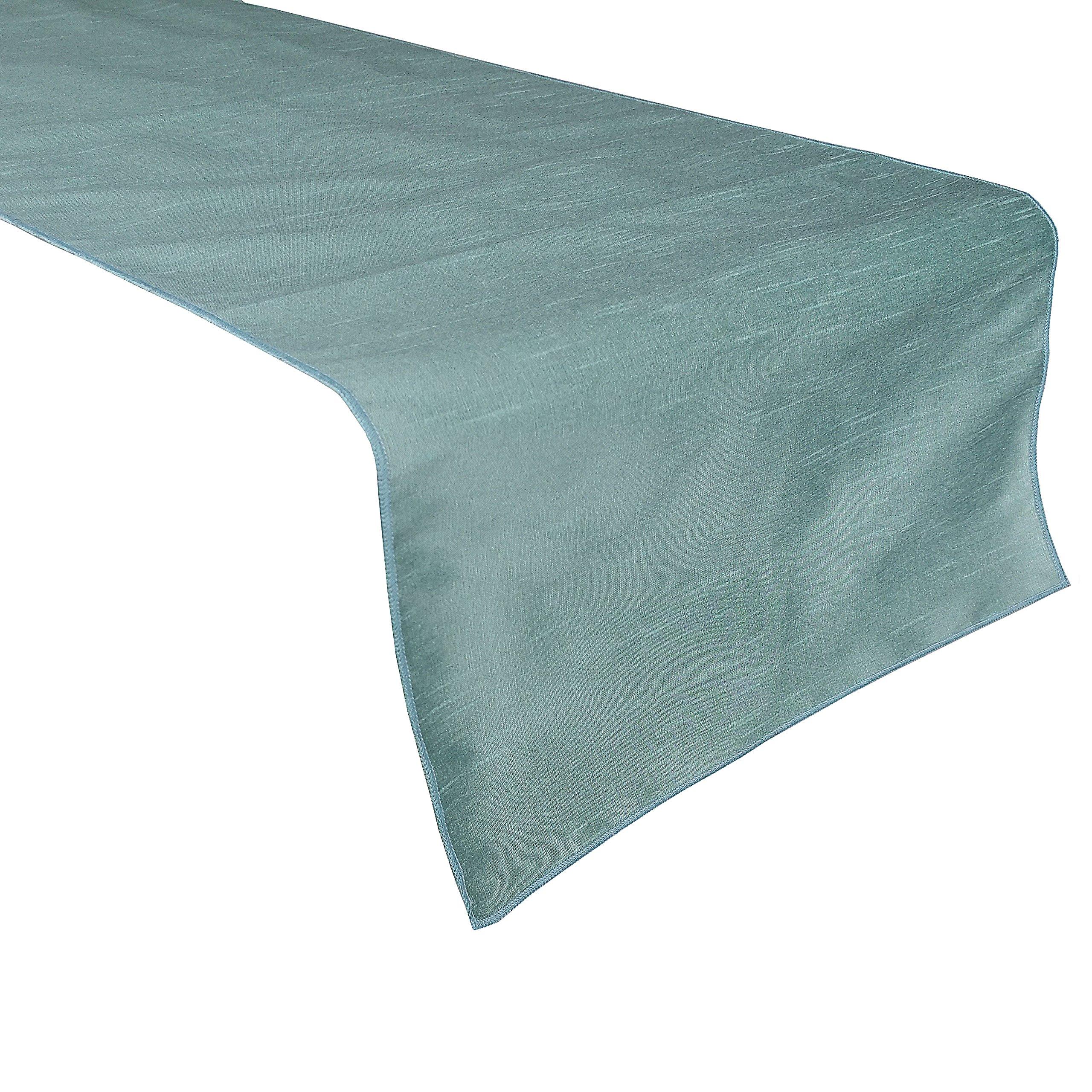 Zen Creative Designs® Elegant Solid Dupioni Table Top Runner (13'' x 72'', Spa)