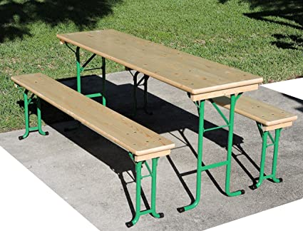 Amazoncom Picnic Table Set Tyrolia CLOSEOUT SALE Home Improvement - Long picnic table for sale
