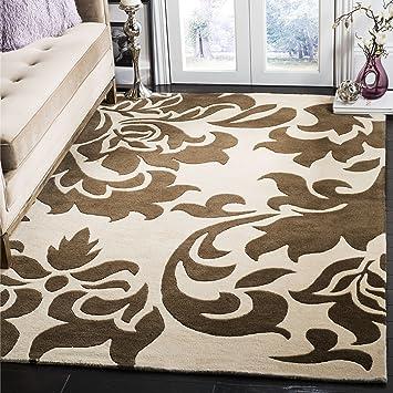 Amazon Com Safavieh Martha Stewart Collection Msr4546c Handmade Barcelona Wool Area Rug 5 X 8 Molasses Furniture Decor