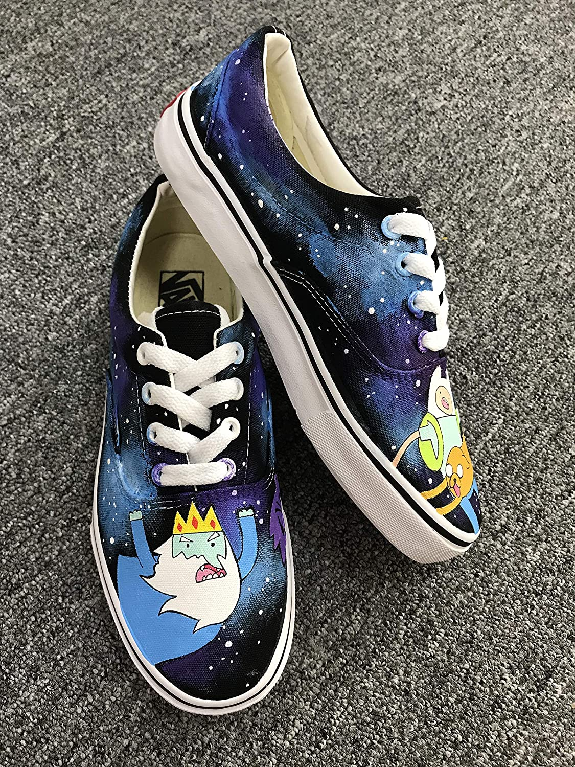 66dd3c5e8a33c5 Amazon.com  Anime Adventure Time Vans Custom Canvas Shoes Handpainted Low  Tops Shoes Christmas Gifts  Handmade