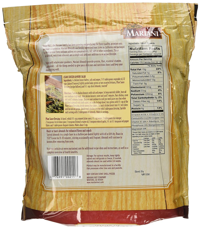 Amazon Com Mariani Mariani Sliced Almonds 2 Pound Snack Almonds Grocery Gourmet Food