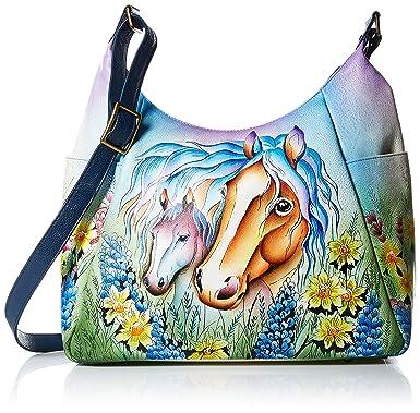 d0cc3ab06c83 Anna by Anuschka Women's Genuine Leather Large Hobo Bag | Multi-Pockets,  Adjustable Handle