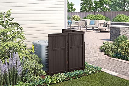 Amazon com : Air Conditioner Fence for Outside Units, Privacy Screen