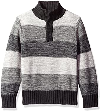40b1f02bba45e The Children s Place Little Boys  Striped Mock Neck Pullover Sweater