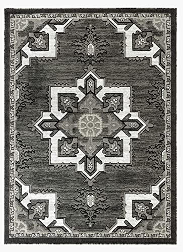 Rugs and Decor npt 76 7.4×10.6 area rugs 8×10 actual size is 7 .4 x10 .6 Grey