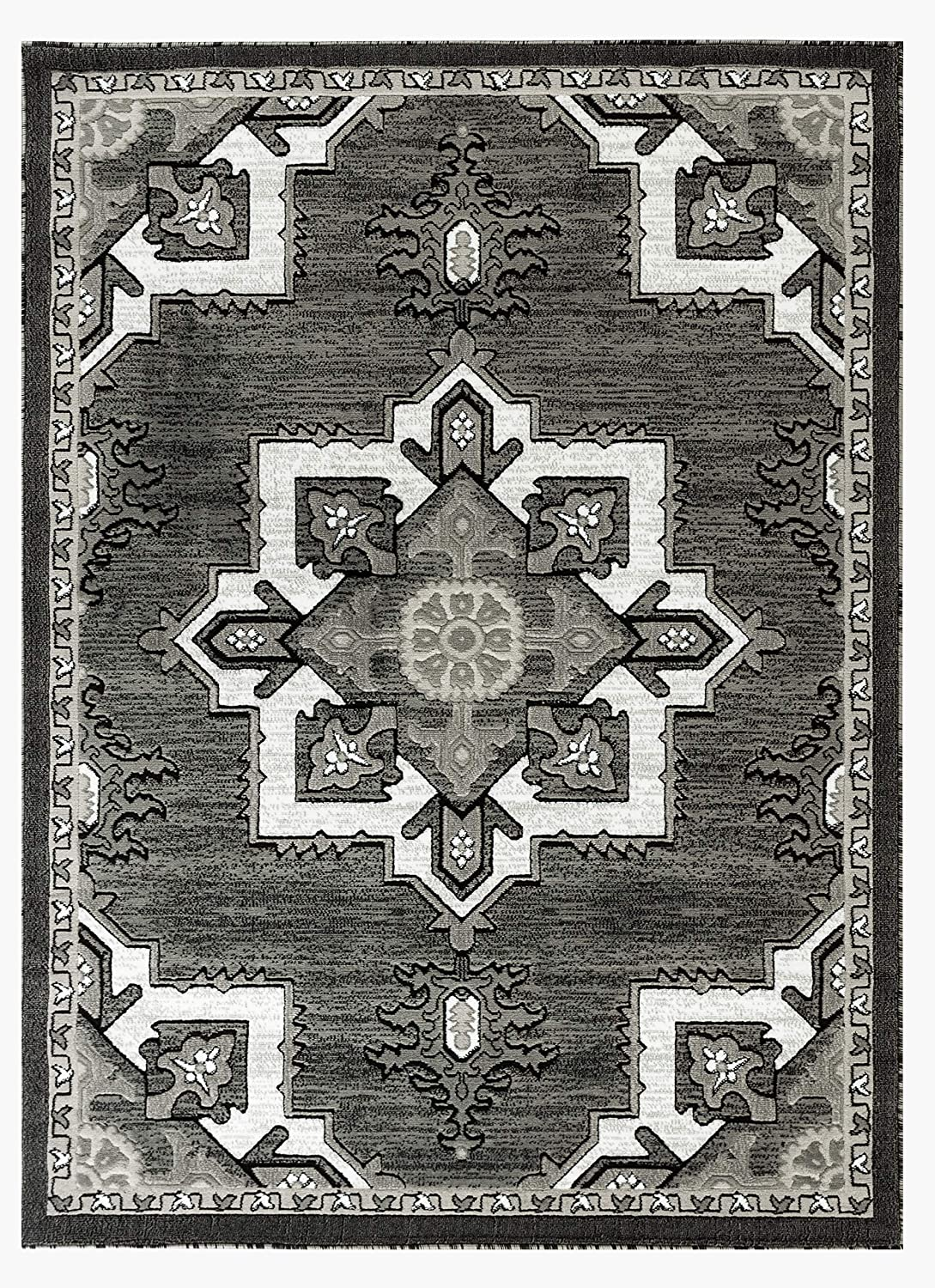 Rugs And Decor Npt76 Npt 76 3 7x5 Area Rugs 2 X 7 5 Hallway Runner Grey