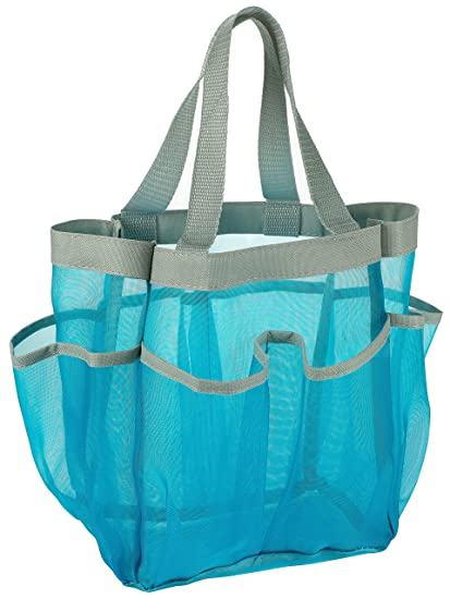7 Pocket Shower Caddy Tote Blue Keep Your Shower Essentials