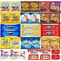 Cookies Variety Pack Individually Wrapped Assortment Bulk (30 count) Cookies Snack Box & Care Package Includes Gramdmas Cookies, Famous Amos, Oreos, Keebler Cookies, Pepperidge Farm Cookies and More