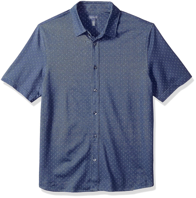 Van Heusen Men's Never Tuck Short Sleeve Shirt