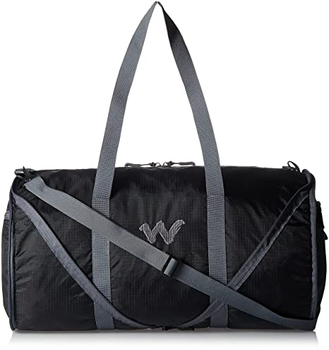 ebcb20f69c13 Wildcraft Nylon 18 Inch Black Travel Duffle (Frisbee 2 Black)  Amazon.in   Bags