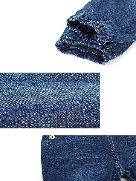 Talla 56//62//68//74//80//86 Beb/é Ni/ñas Denim Pantalones de Peto Pantal/ón de Peto Vaqueros Overol Jeans con Tirante Algod/ón Suave Delgado para Primavera Verano
