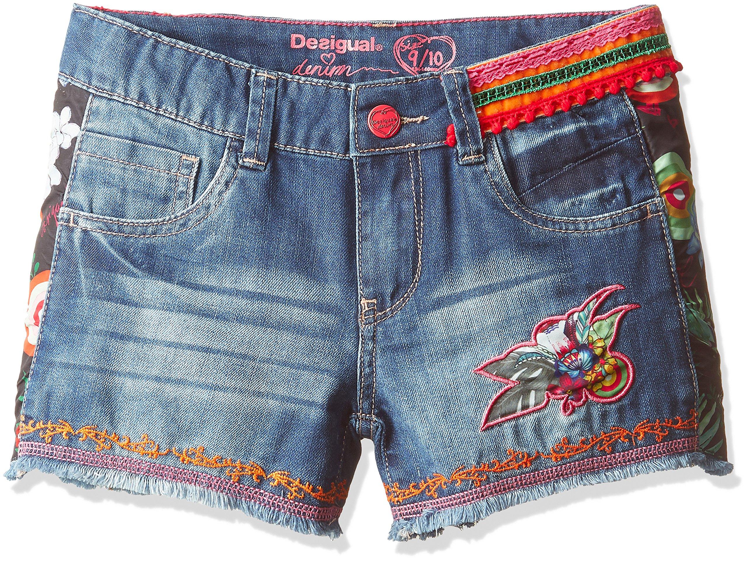 Desigual Toddler Girls' fernan Denim Trousers, Azul Klein, 9/10