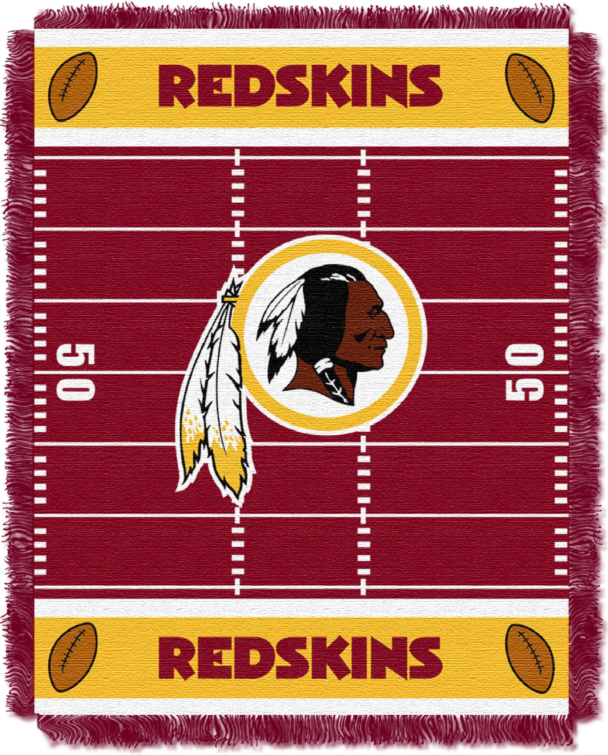 The Northwest Company Officially Licensed NFL Washington Redskins Field Bear Woven Jacquard Baby Throw Blanket, 36'' x 46'', Multi Color by The Northwest Company