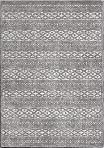 Orian Rugs Boucle High-Low Indoor Outdoor Jenna Area Rug, 9 x 13 , Silverton