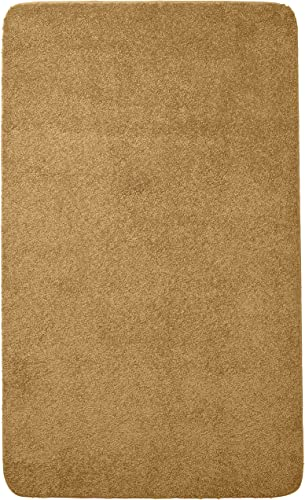 Rugs of Dalton Solid Color Plush Area Rug, 8 x 10 , Gold