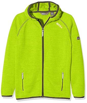 876abe1fec Regatta Dissolver Kids' Outdoor Fleece Jacket available in Lime Zest - Size  ...