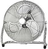Vollmetall Ventilator Ø 46cm | Power Windmaschine | 1.350 U./min | Bodenventilator | Klimagerät | Luftkühler | Ventilator | Tischventilator | Standventilator | Wandventilator | 3 Stufen |