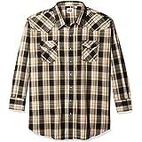 ELY CATTLEMAN Men's Long Sleeve Plaid Western Shirt