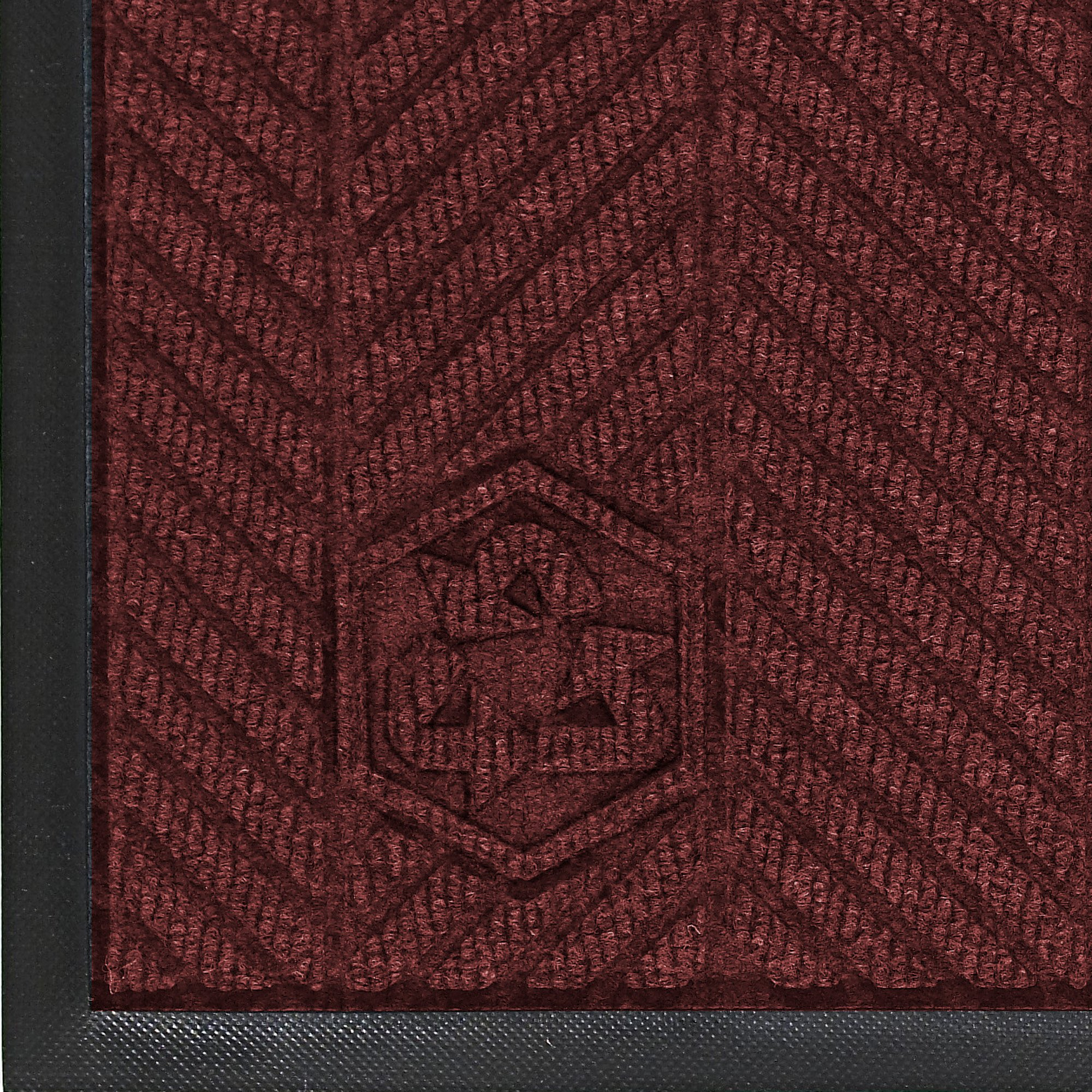 Andersen 2240 Waterhog Eco Elite PET Polyester Fiber Indoor/Outdoor Floor Mat, SBR Rubber Backing, 8.4' Length x 3' Width, 3/8'' Thick, Maroon