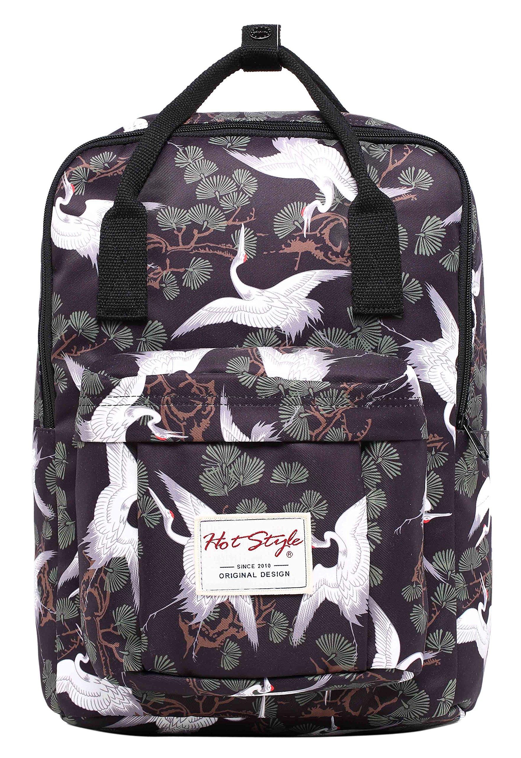 HotStyle BESTIE Cute School Backpack for Girls - Crane