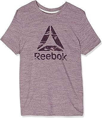 Reebok Te Marble Logo tee Camiseta M lilfog Mujer