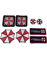 Patch Squad Men's Ultimate Resident Evil Patch Umbrella Corporation patches [8 Piece] Free Gift