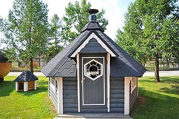 Finnen-Kate Barbacoa Kota cabaña, Parrilla, Jardín Barbacoa 9,2 m²,