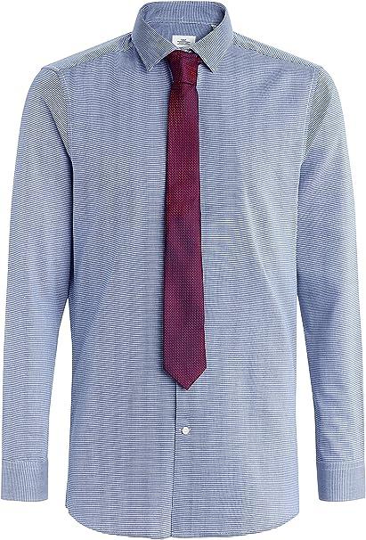 next Hombre Conjunto De Corbata Y Camisa Entallada con Textura ...