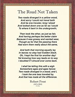 graphic about The Road Not Taken Printable referred to as : The Street Not Taken Poem via Robert Frost