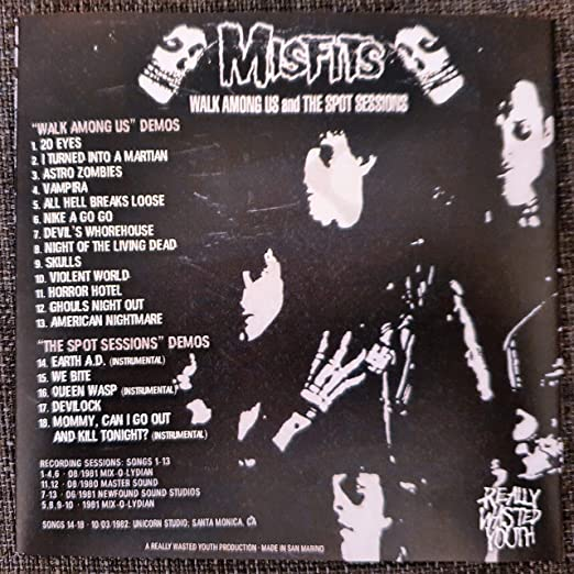 Misfits Walk Among Us And The Spot Sessions Demos Amazon Com Music