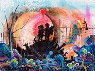 Due Bambini Banksy Tribute Street Art Dipinto