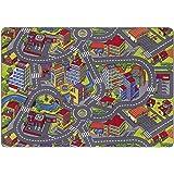 misento 293303 - Tappetino da gioco per bambini, 140 x 200 cm, motivo: strada