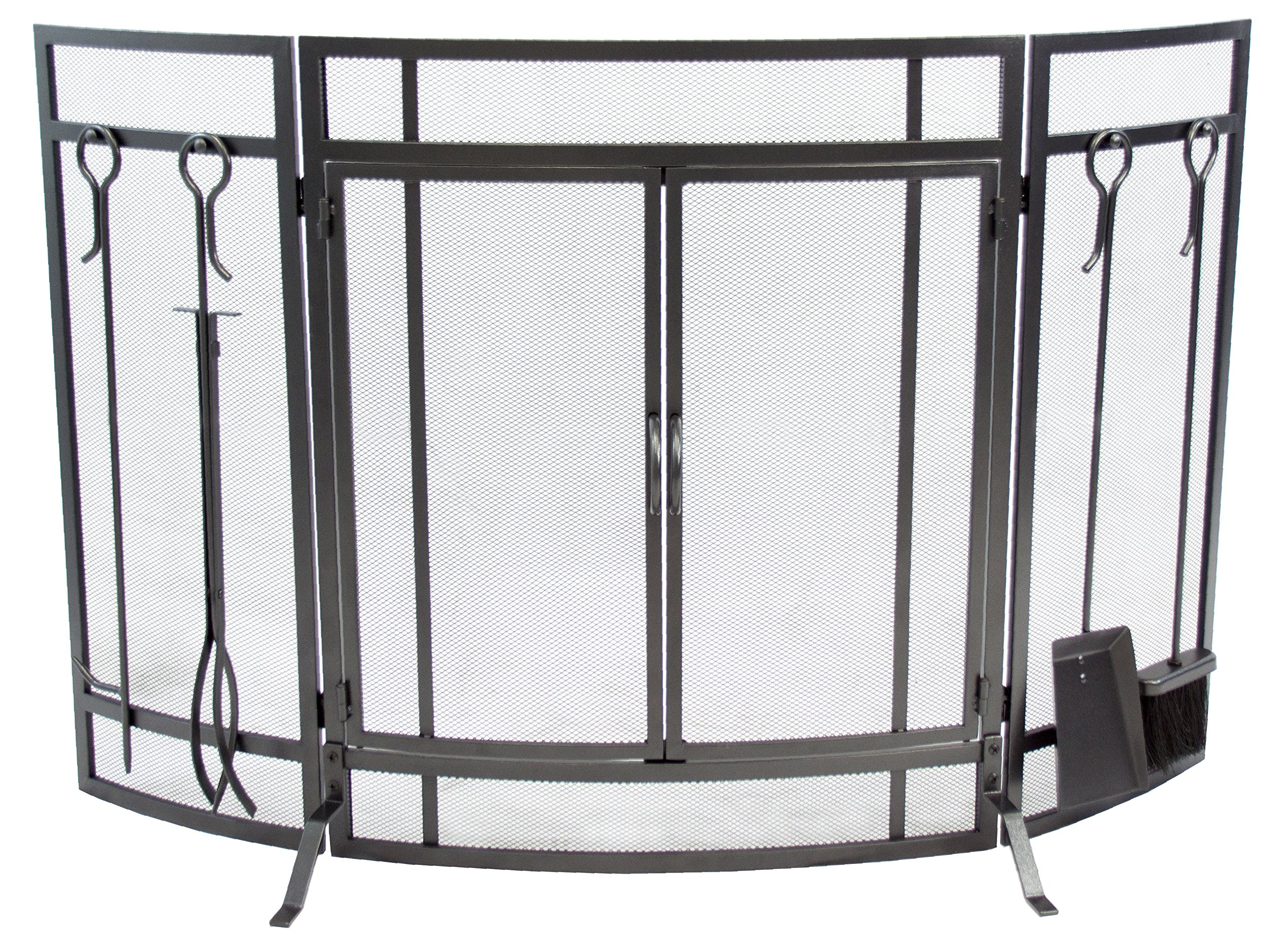 Pleasant Hearth FA498ST Curved Screen with Tools by Pleasant Hearth