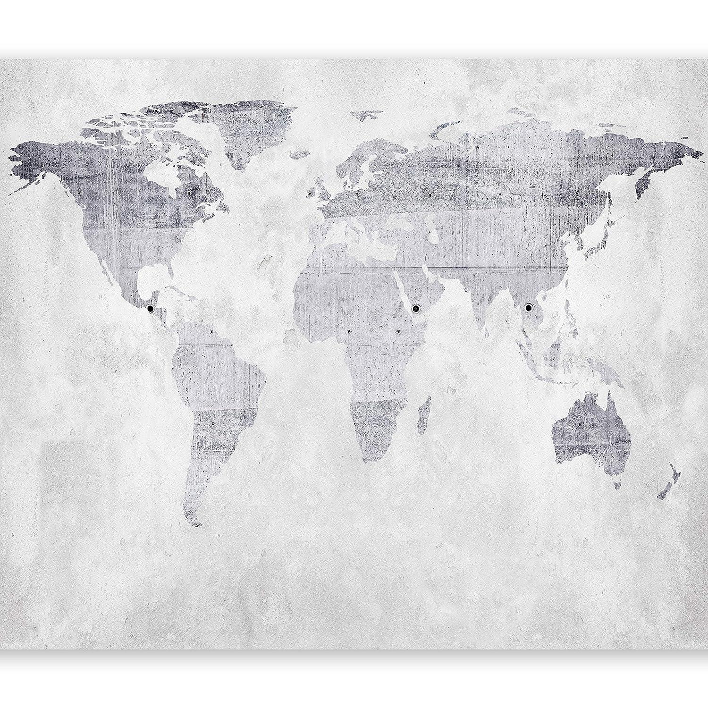 Murando - Fototapete 400x280 cm - Vlies Tapete - Moderne Wanddeko - Design Tapete - Wandtapete - Wand Dekoration - Weltkarte Beton k-A-0015-a-b