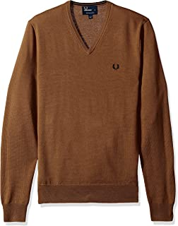 Fred Perry Mens Classic V-Neck Sweater