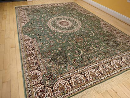 Charmant Stunning Qum Silk Area Rugs 5x8 Living Room Green Rugs 5x7 Dining Room  Olive Cream Reds