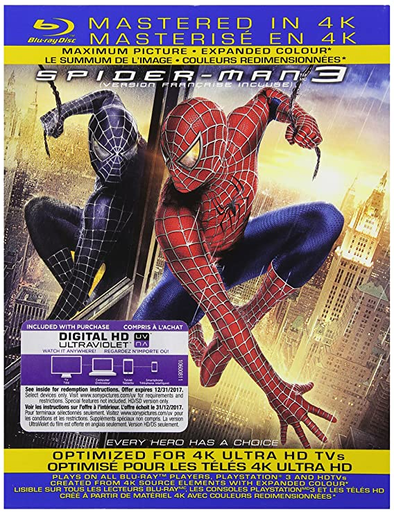 Spider-Man 3 (Mastered in 4K) [Blu-ray] (Bilingual): Amazon