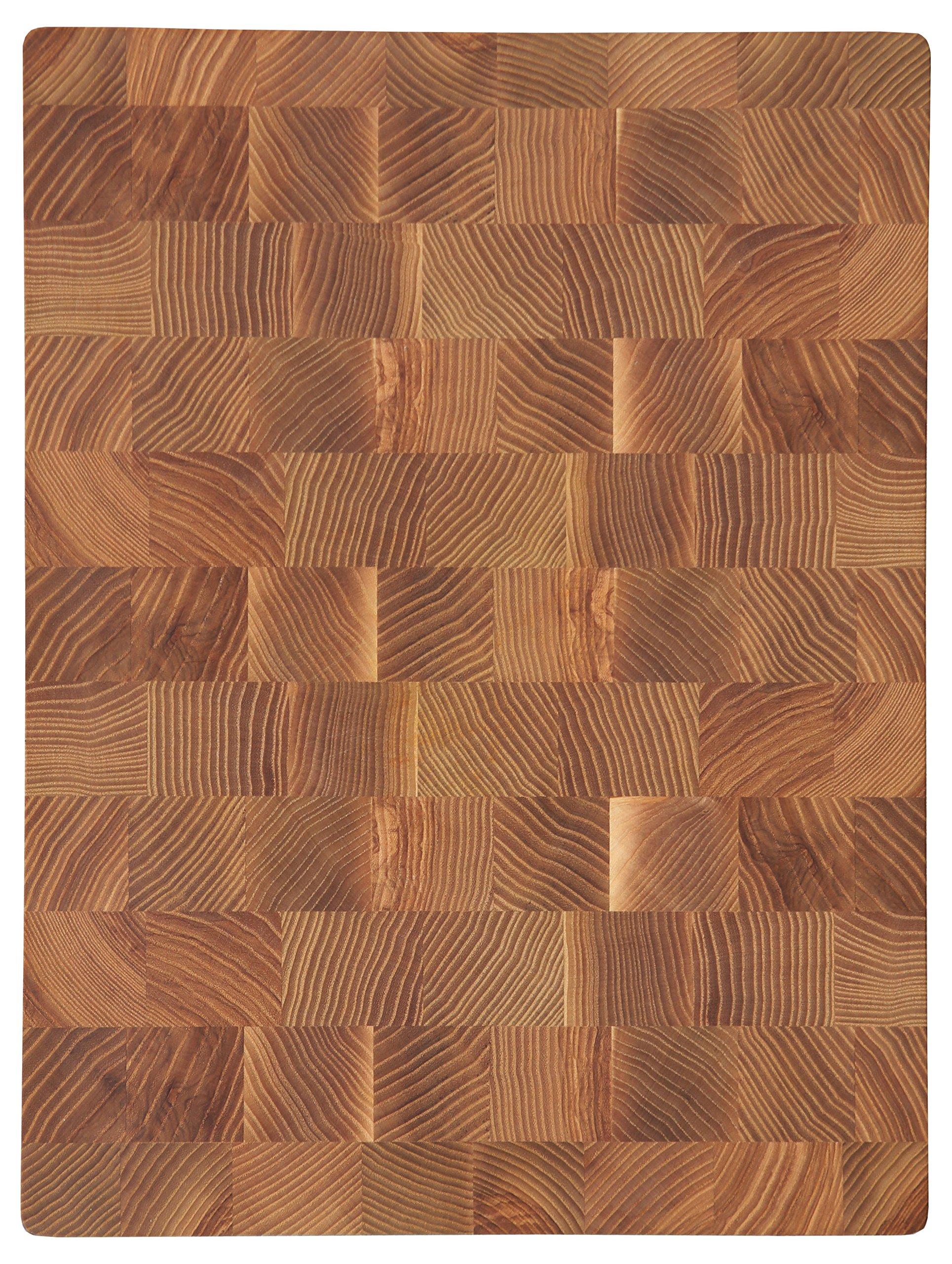 COZY Ash-Tree End Grain Cutting Board 16 by 12 by 1,5-inch Chef's Board Chopping Block (16''x12''x1,5'')