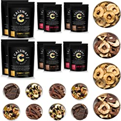 (Pack of 12) CAVEMAN TREATS - Pack of Assorted Snacks for Paleo Diet by Calsway