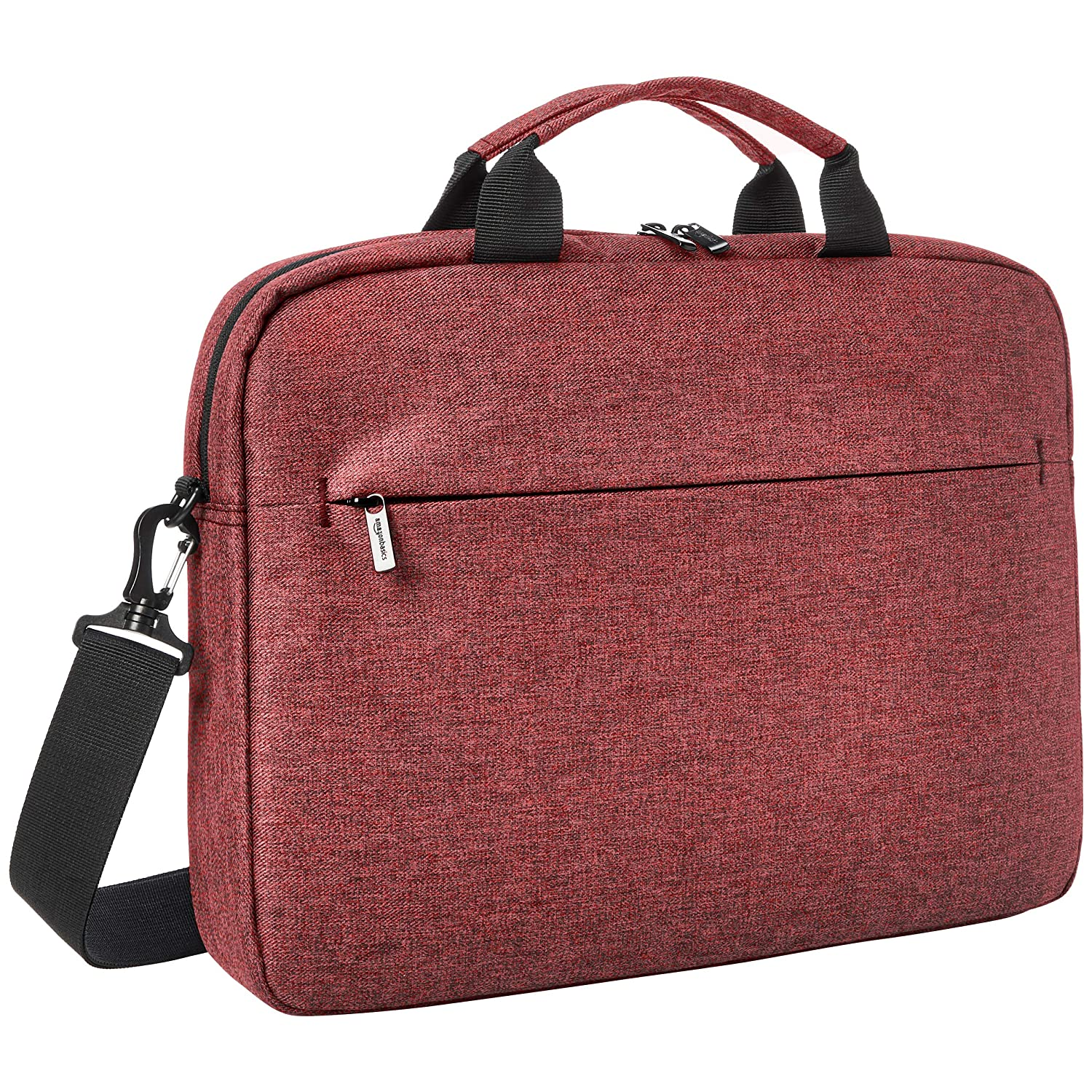 "AmazonBasics Urban Laptop and Tablet Case, 17"", Maroon"
