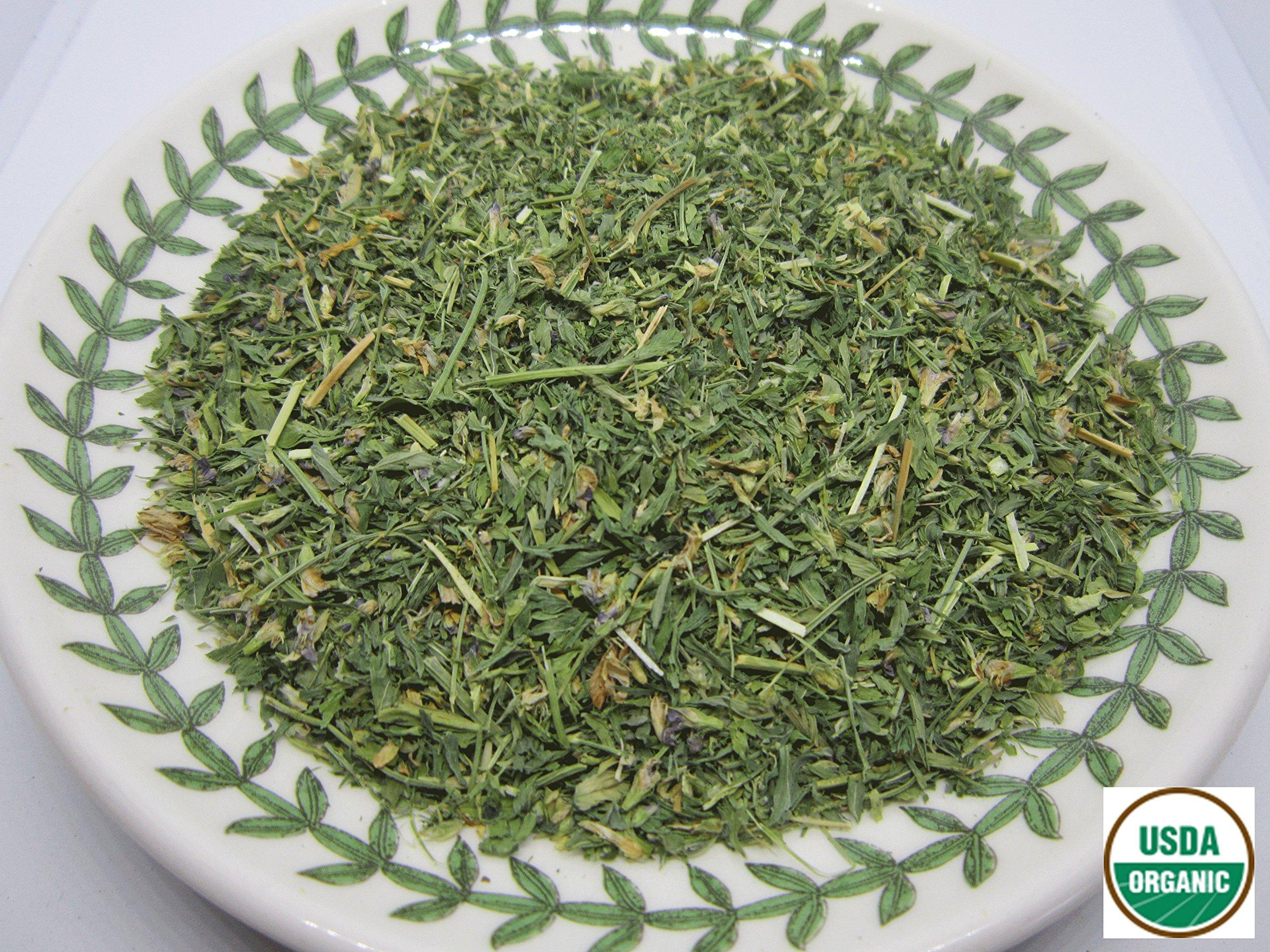 Organic Alfalfa - Medicago sativa Loose Leaf c/s 100% from Nature (4 oz)